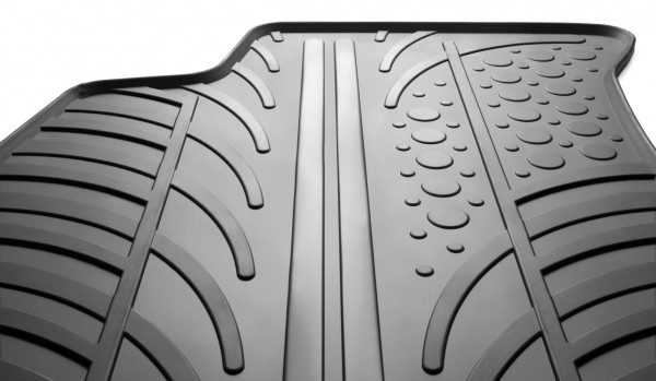 Rubber car mats are an integral part of the interior decoration